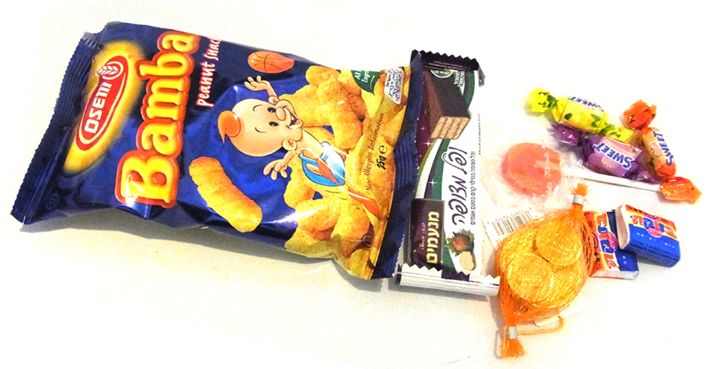 schokolade koscher bamba snack haribo ohne gelatine vegan